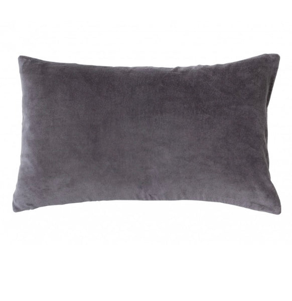 Pewter Grey Velvet Cushion