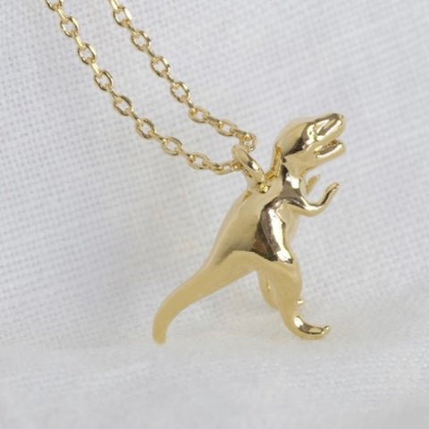 Gold Plated T Rex Necklace