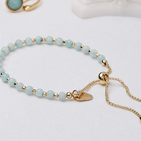 Amazonite Gemstone Bracelet by Estella Bartlett