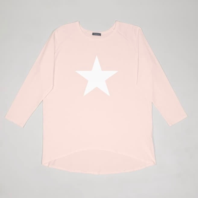 Pink Oversize Top with White Star by Chalk UK