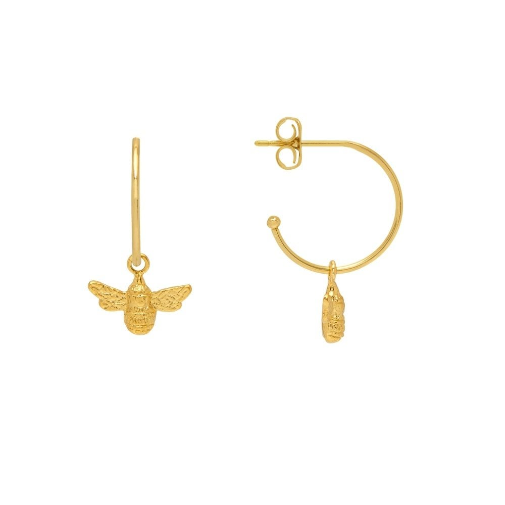 Bee drop hoop earrings by Estella Bartlett