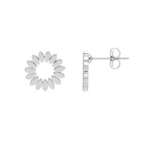 Modern Flower Stud Earrings by Estella Bartlett
