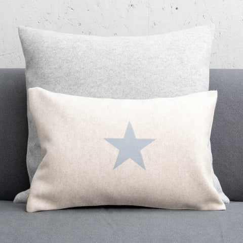 Oatmeal Felt Cushion with Grey Star