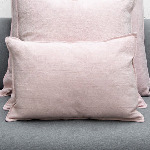 Pink Heavy Linen Cushion