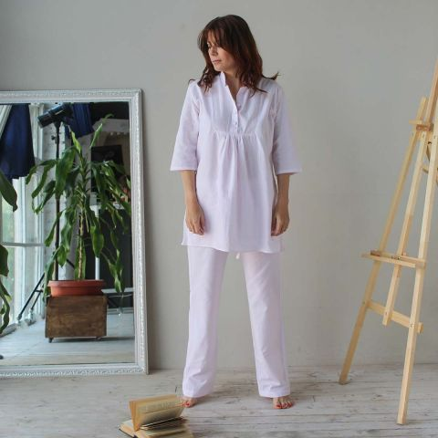 Pink Stripe Pyjama Set