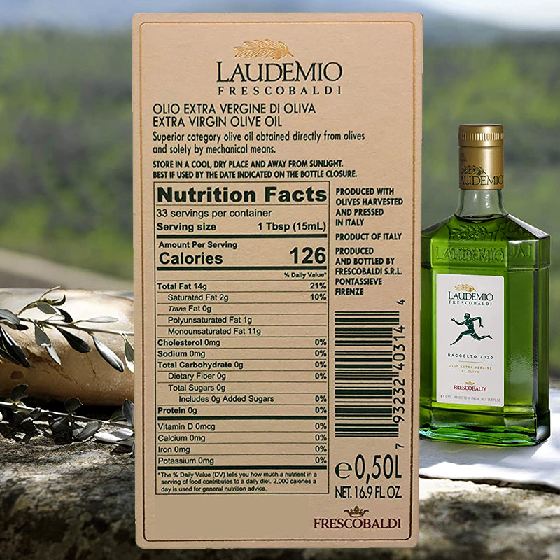 Frescobaldi Laudemio Extra Virgin Olive Oil - 2020 Freshly Pressed Harvest