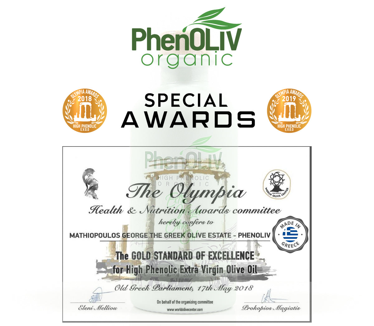 PhenOLIV_Organic_extra_virgin_olive_oil_awards_olympicco post