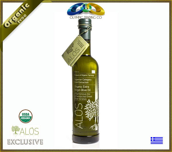 Organic Greek Superior Extra Virgin Olive Oil Alos - 500ml - OLYMPICCO.COM