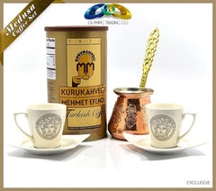 Turkish Coffee - Coffee Pot - Medusa Bone Porcelain Coffee Set - OLYMPICCO.COM