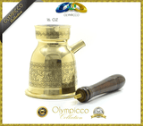 Mehmet Efendi Turkish Coffee - Greek Turkish Coffee Pot Solid Brass - Pack of 2 - OLYMPICCO.COM