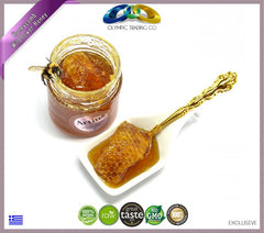 Raw Honeycomb Wildflower Greek Honey Artius - 280g - OLYMPICCO.COM