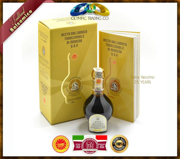 Traditional balsamic vinegar of Modena P.D.O - EXTRAVECCHIO 25 YEARS - OLYMPICCO.COM