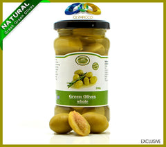 Premium Whole Greek Green Olives - 290g - OLYMPICCO.COM
