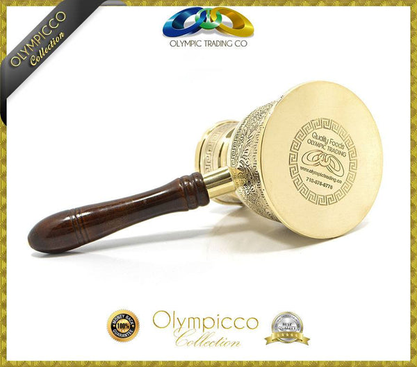 Greek Turkish Coffee Pot Solid Brass 3mm - Olympicco Collection - OLYMPICCO.COM