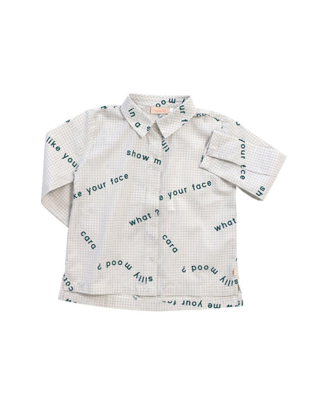 Many Words Woven Shirt