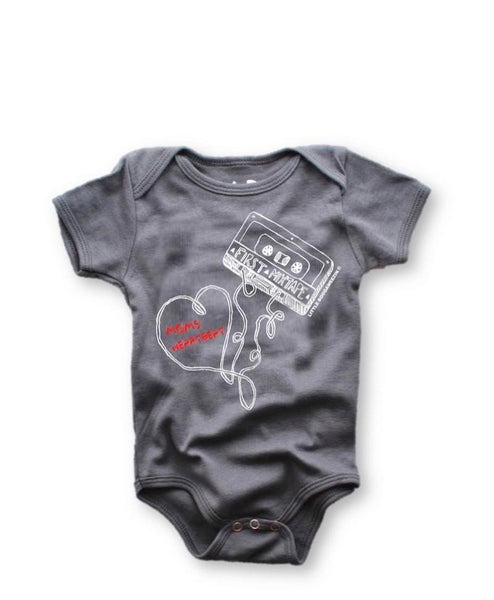 First Mixtape Moms Heartbeat Onesie