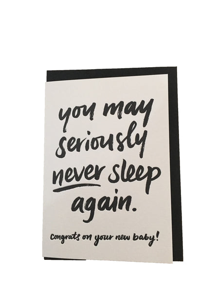 Letterpress Greeting Card - Baby Shower