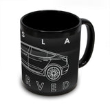 Tesla Model 3 Black Coffee Mug