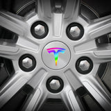 Tesla Wheel Sticker Decal - Carbon Fiber and Colors
