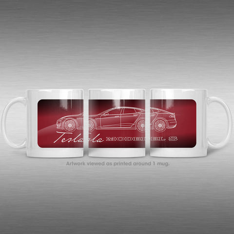 Tesla Model S Mug | Tesla Coffee Cups