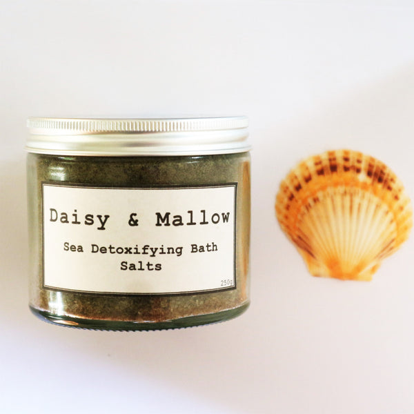 Sea Detoxifying Bath Salts Jar - Daisy & Mallow
