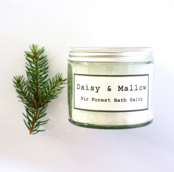 Fir Forest Bath Salts Jar - Daisy & Mallow