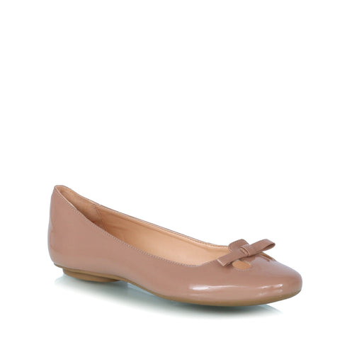 Leather ballet flatas, nude