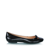 Leather ballet flats, black