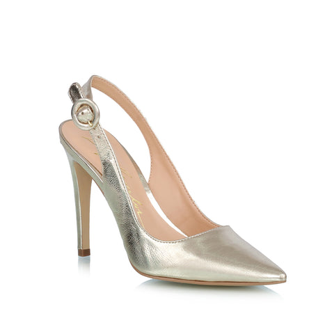 Metallic leather, pumps