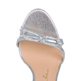 METTALIC LEATHER SANDALS, SILVER