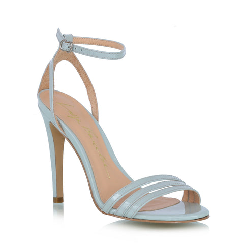 PATENT LEATHER SANDALS, BLUE