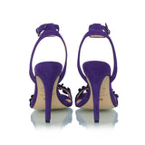 Ruffled Sued Sandals, purple