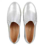 Leather Moccasins, silver