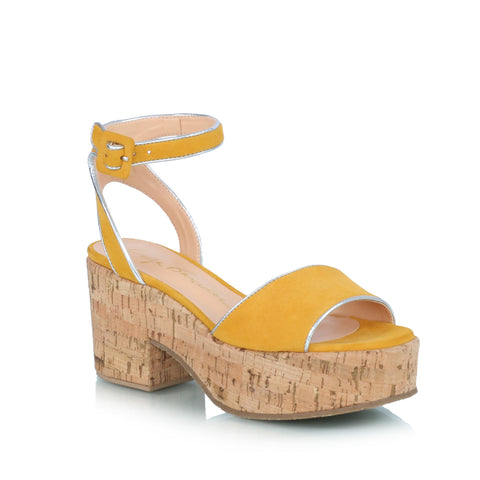 Wedge Sandals, yellow