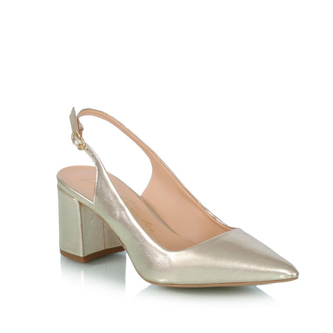Slingback pumps, gold