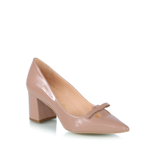 Bow pumps, nude