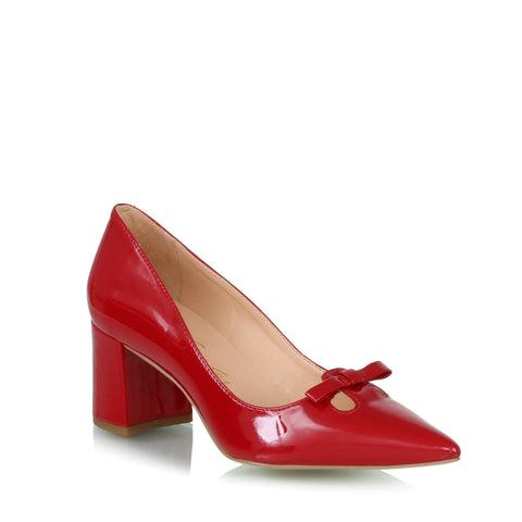 Bow pumps, red
