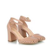 Cutout pumps, nude
