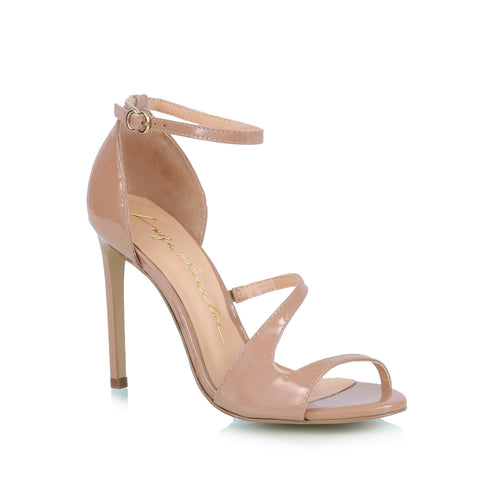 Ankle-strap sandals, nude