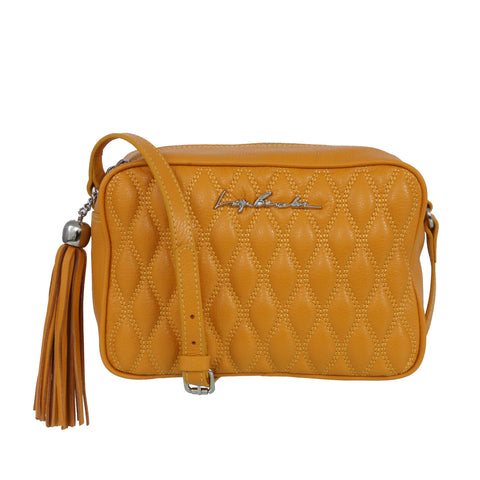 Leather bag, yellow