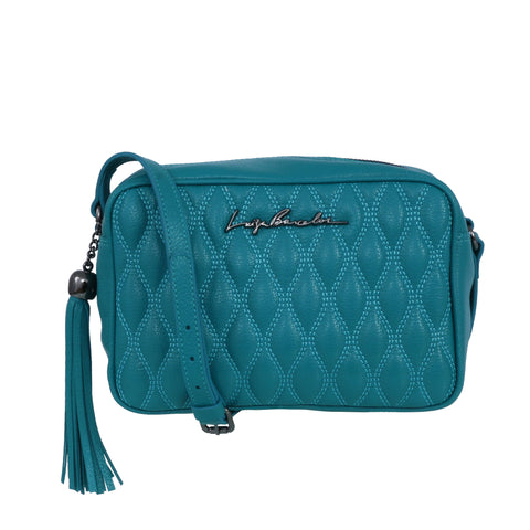 Leather bag, turquoise
