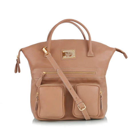 Leather bag, nude