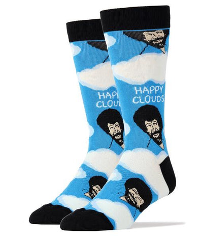 Bob Ross Happy Clouds Men's Socks