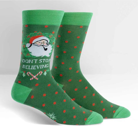 DON'T STOP BELIEVING men's sock