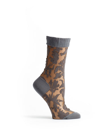 Floral Damask Women sock