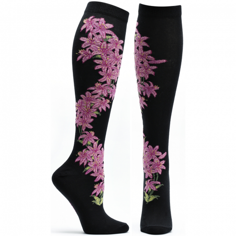 DAYLILY APOTHECARY FLORALS Women Knee High Sock