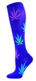 Pot Leaves - Women sock Knee High