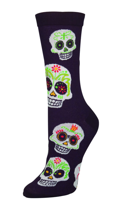 Big Muertos (sugar skull) Skull Women sock