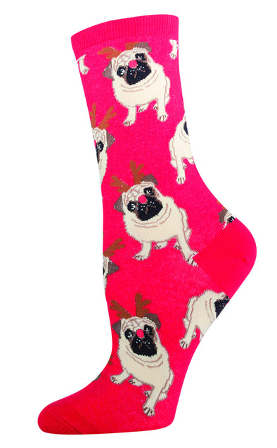 ANTLER PUG Women sock