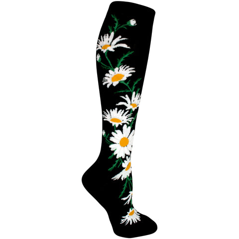 Crazy For Daisies Women Knee High Sock